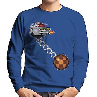 Sonic The Hedgehog Doctor Eggman Liekki Käsityö Miehet's Collegepaita