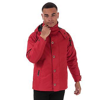 Men's Henri Lloyd IED Consort Heavy Oxford Jacket in Red