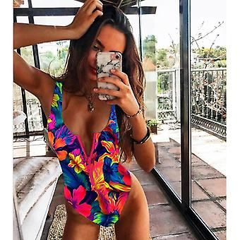 Frauen Bademode Push Up Monokini Body / Badeanzug, Print Badeanzug