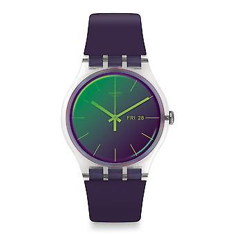 Swatch Suok712 Polapurple silikon klocka