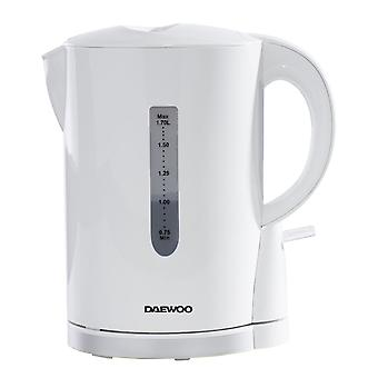 Daewoo White 1.7l Plastic Kettle With Chrome Band