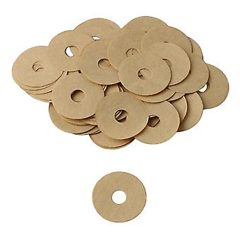 90x Brown 6mm Hole Dia Piano Balance Paper Washer Piano Adjustment Tool