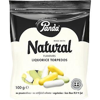 Panda Natural Liquorice Torpedos 100g x18