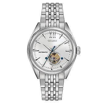 Burger NB4000-51A Mens Signature Grand Classic Automaat Stainless Steel Watch