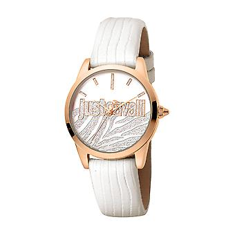 Just Cavalli Women's Firma Silver Dial Calfskin Leather Watch