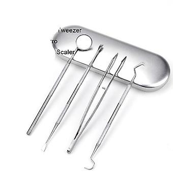 Dental Mirror, Scaler, Probe And Tweezer-dentist Tool Kit