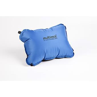 Multimat Self-Inflating Camper Pillow (Sea Blue/Charcoal) - Sea Blue/Charcoal