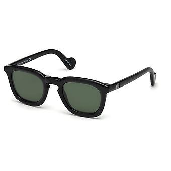 Moncler ML 0006 01N Gafas de sol brillantes negro/verde