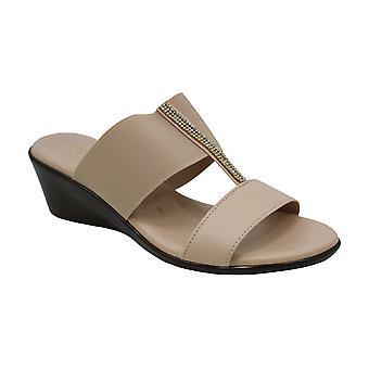 ITALIAN Shoemakers Womens Zoey Open Toe Bridal Slide Sandals
