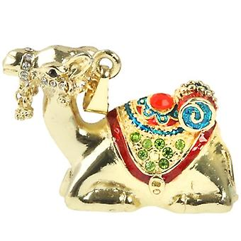 Golden Camels Shaped Diamond Jewelry Necklace Style USB Flash Disk (32GB)