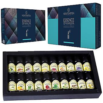 Essence Of Khalifa - 20pc Set Of 10ml Luxury 100% Pure Aromatherapy Essential Oils - Therapeutic Grade Oil - Selection Of The Top 20 With Guide And Re