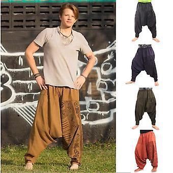Men Hip-hop Harem Pants Crotch Baggy Joggers Summer Trousers