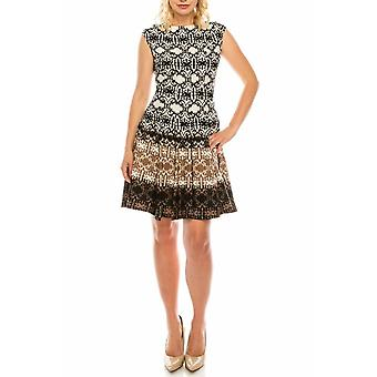 Printed Neoprene Dress