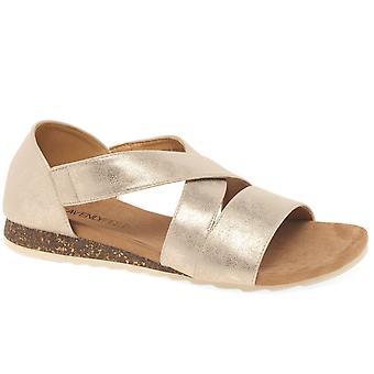 Heavenly Feet Estelle Womens Low Wedge Heel Sandals