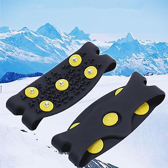 5-stud Snow Ice Claw Climbing, Anti Slip, Spikes Grips Crampon Cleats Shoes