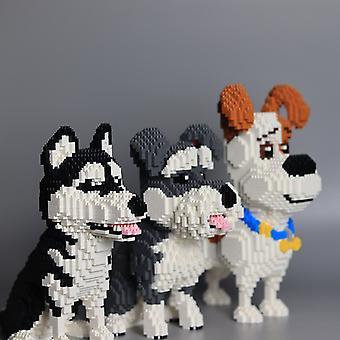 Строительные блоки Майк щенок Шнауцер Хаски Diamond Micro мелкие частицы орфографии игрушка Pet Dog Блок Модель Игрушки для детей Подарки