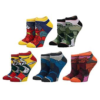 Gundam Ankle Socks 5-Pack