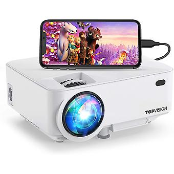 """Mini Projector, Projector 5500 Lumens HD 1080P 180"""" Display Supported"""