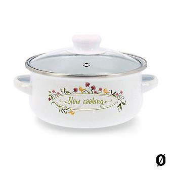 Casserole with glass lid Quid Memory Enamelled Steel/26 cm