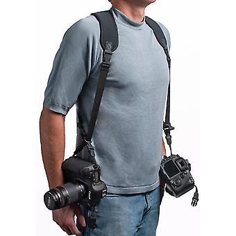 OP/TECH Double Sling Neoprene Harness Carries 2 Cameras in Sling Style - Black