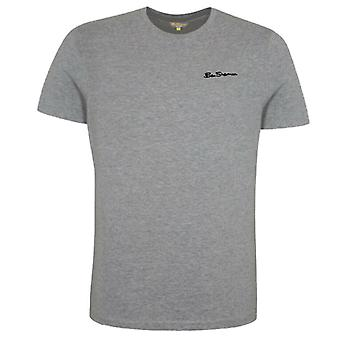 Ben Sherman Mens Plain Grey T-Shirt Short Sleeve Top 0062889G 009