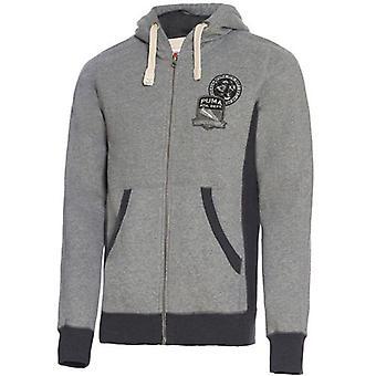 Puma Mens Varsity Цип через Худи Серый пот с капюшоном Куртка 566954 03 P4C