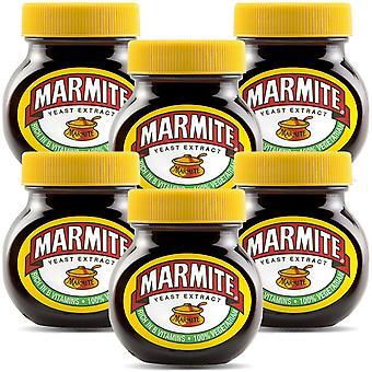 Marmite Hefe-Extrakt reich an Vitamin B, 6 Gläser von 125gm