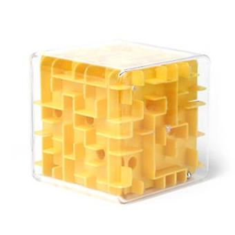 Transparent 3d Ball Rolling Three-dimensional Maze Marbles Intellectual Decompression Cube Toy