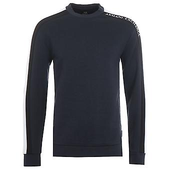 Armani Exchange Contrast Sweatshirt - Navy