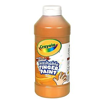 Pintura de dedo lavable Crayola, naranja, 16 Oz