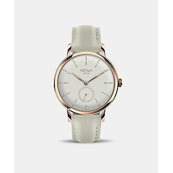 VOTUM - Reloj de señoras - VINTAGE SMALL - VINTAGE - V11.20.11.05 - correa de cuero - blanco-écru
