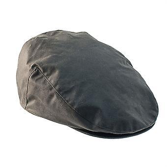 ZH002 (OLIVE S 56cm ) Buchanan Wax Flat Cap
