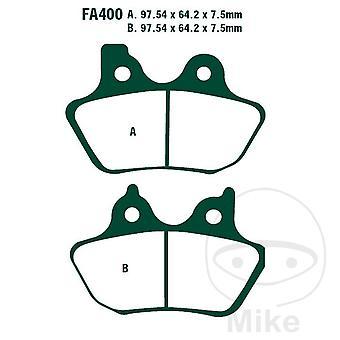 EBC Semi-Sintered Rear Brake Pads FA400V FXSTDI 1450 EFI Softail Deuce 2001-2005