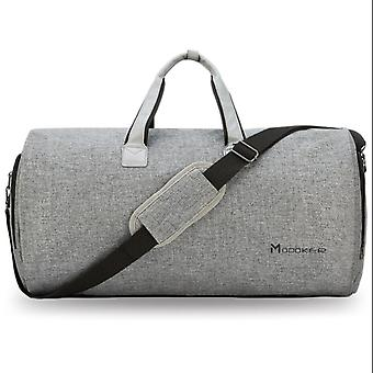 Duffel Reisetasche mit Schultergurt, tragen auf hängenden Koffer