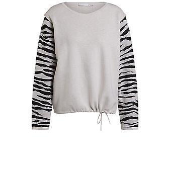 Oui Zebra Print Detailed Jumper