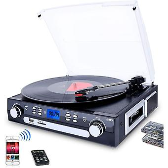 DIGITNOW! Vinyl Record Player, Bluetooth Turntable with Stereo Speakers, Turntable for Vinyl to MP3