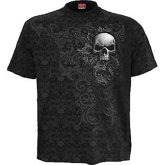 Skull Scroll Scroll Impress T-paita