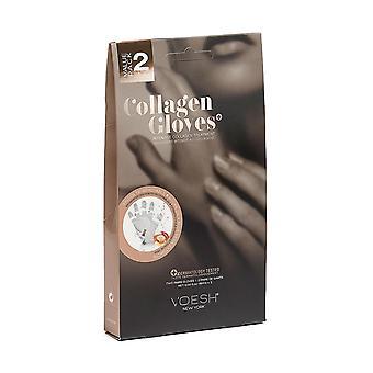 2Pairof 16ml Voesh New York Intensive Collagen Gloves with Argan Oil & aloe vera