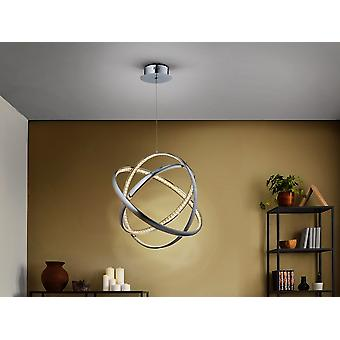 Zintegrowane światło wiszące LED, chromowane, kryształowe