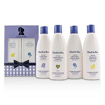 Noodle & Boo Family Fun Pack: Extra Gentle Shampoo + Super Soft Lotion + Smoothing Body Wash + Bouncing Baby Bubbles 4pcs