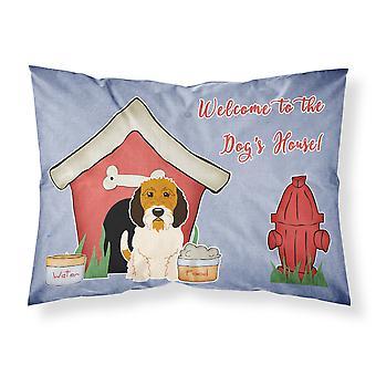 Caroline'S Tesoros Dog House Colección Petit Basset Griffon Veenden tela funda de almohada estándar Bb2833Pillowcase