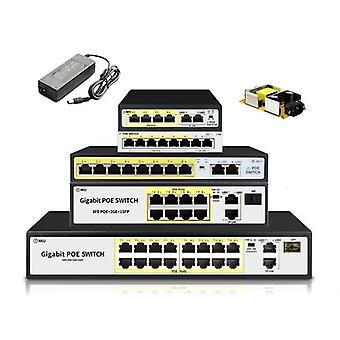 Switch Ethernet switch Poe a 4 porte da 48 v con Ieee 802.3 adatto per fotocamera IP