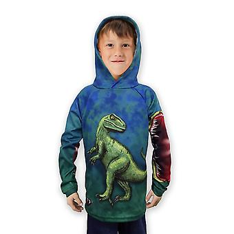 Rockin' Raptor Dino Hoodie Sport Shirt By Mouthman®