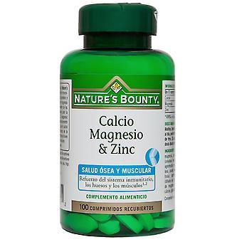 Nature's Bounty Kalzium Magnesium und Zink 100 überzogene Tabletten