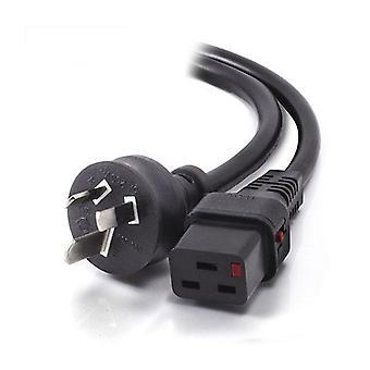 Alogic Iec Lock Iec C19 To Aus 3 Pin 15A Power Cord