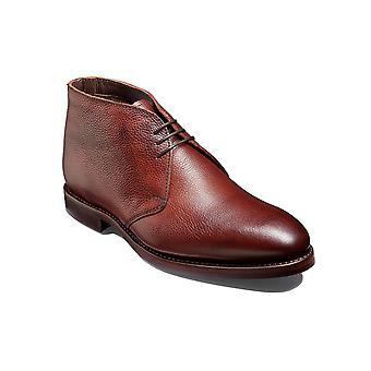 Barker Orkney S - | de grano de cereza Botas Chukka de cuero hechos a mano para hombre | Zapatos Barker