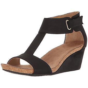 Adrienne Vittadini Womens Trellis åpen tå Casual ankelen stroppen sandaler