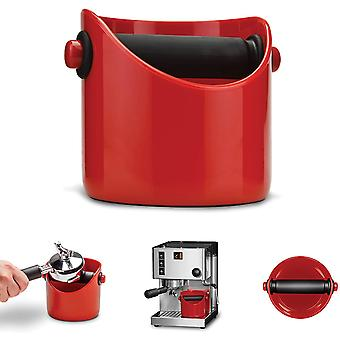 Grindenstein knock-off container for coffee grounds, red