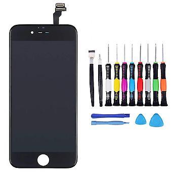 För iPhone 6 Screen Black - med 16-delad professionell reparationssats