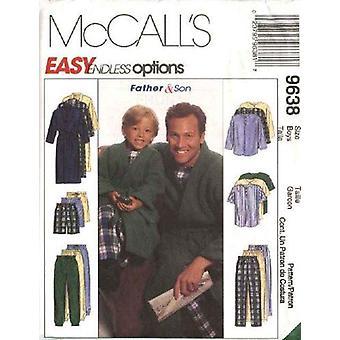 McCalls Schnittmuster 9638 6236 Herren Hose Shorts Robe Top Pyjamas Größe S-XL